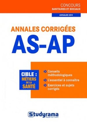 Annales corrigées AS-AP - studyrama - 9782759015306 -