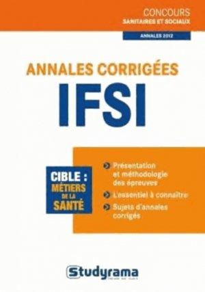 Annales corrigées IFSI - studyrama - 9782759019687 -