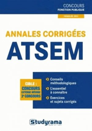 Annales corrigées ATSEM - studyrama - 9782759019731 -