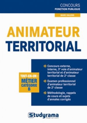 Animateur territorial - Studyrama - 9782759025152 -