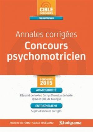 Annales corrigées concours psychomotricien - studyrama - 9782759026258 -