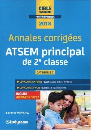 Annales corrigées ATSEM principal de 2e classe - studyrama - 9782759037063 -