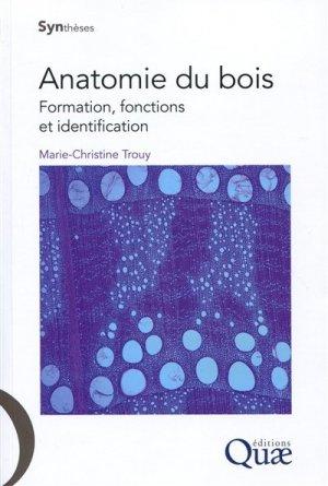 Anatomie du bois - quae  - 9782759223497 -