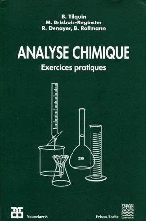 Analyse Chimique - frison roche / nauwelaerts - 9782803800469 -