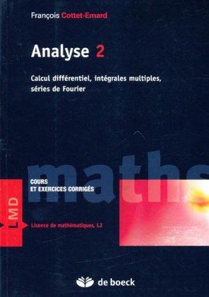 Analyse 2 - de boeck superieur - 9782804152307