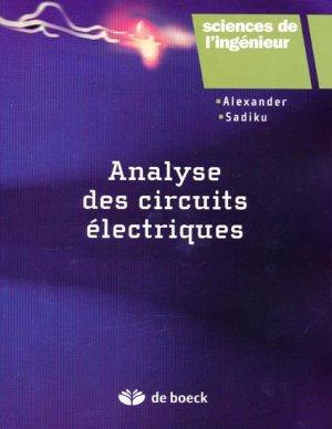 Analyse des circuits électriques - de boeck superieur - 9782804166021 -