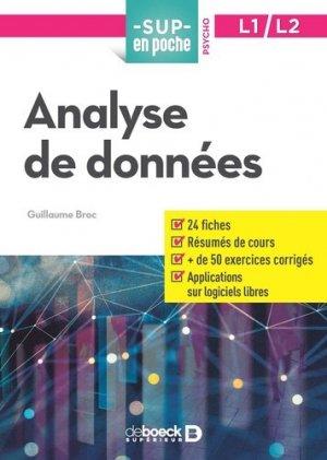 Analyse de données, L1-L2 - de boeck superieur - 9782807307919 -