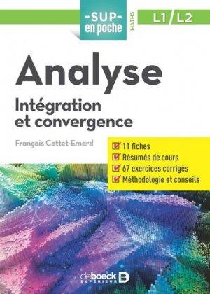 Analyse : intégration et convergence, L1-L2 - de boeck superieur - 9782807321281 -