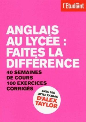 Anglais au lycée - L'Etudiant - 9782817604572 -