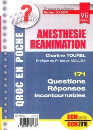 Anesthésie Réanimation - vernazobres grego - 9782818311615 -