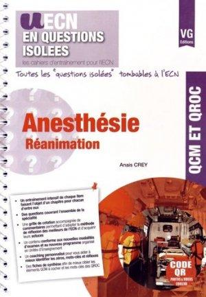 Anesthésie Réanimation - vernazobres grego - 9782818312636