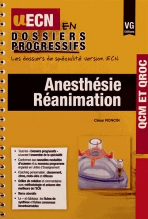 Anesthesie réanimation - vernazobres grego - 9782818312735 -