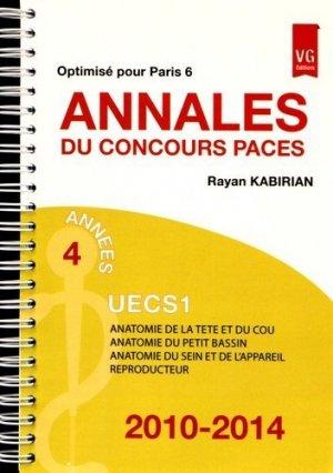 Annales du concours PACES UECS 1 - vernazobres grego - 9782818313114