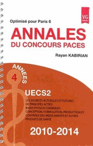 Annales du concours PACES UECS 2 - vernazobres grego - 9782818313121 -