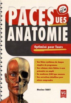 Anatomie optimisé pour Tours UE5 - vernazobres grego - 9782818313695 -