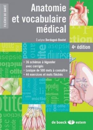 Anatomie et vocabulaire médical - estem - 9782843716966 -