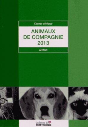 Animaux de compagnie 2013 - du point veterinaire - 9782863263259 -