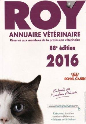 Annuaire vétérinaire ROY 2016 - du point veterinaire - 9782863263594 -