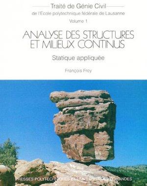 Analyse des structures et milieux continus - presses polytechniques et universitaires romandes - 9782880748968 -