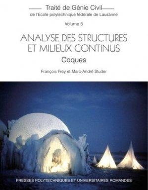 Analyse des structures et milieux continus - ppur - 9782889152049 -