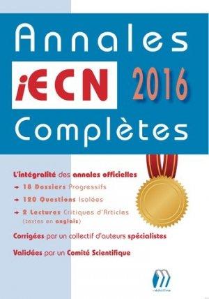 Annales iECN 2016 complètes - medicilline - 9782915220926 -