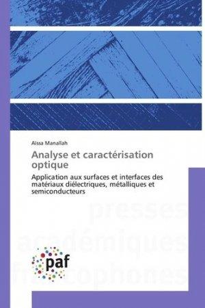 Analyse et caractérisation optique - presses academiques francophones - 9783841640321 -