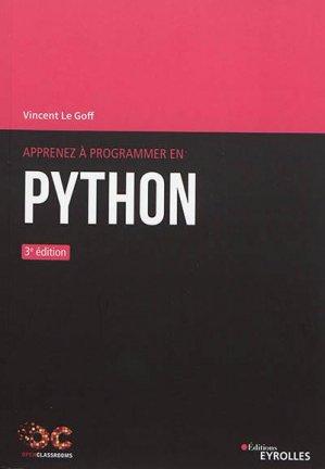 Apprenez à programmer en Python - Eyrolles - 9782212678710 -