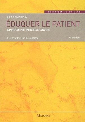 Apprendre à éduquer le patient - maloine - 9782224032326 -