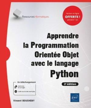 Apprendre la Programmation Orientée Objet avec le langage Python - (avec exercices pratiques et corrigés) (2e édition) - eni - 9782409026539 -