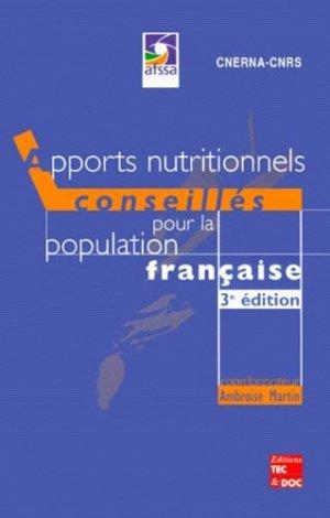 Apports nutritionnels conseillés pour la population française - lavoisier / tec et doc - 9782743004224 -