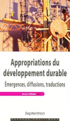Appropriations du développement durable - presses universitaires du septentrion - 9782757401170 -