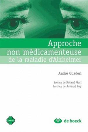 Approche non médicamenteuse dans la maladie d'Alzheimer - de boeck superieur - 9782804176631