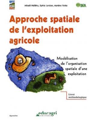 Approche spatiale de l'exploitation agricole - educagri - 9782844442833 -