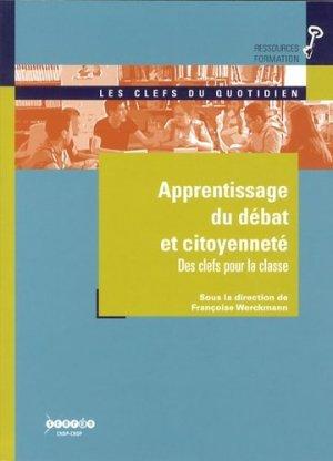 Apprentissage du débat et citoyenneté - Canopé - CRDP de Strasbourg - 9782866364113 -