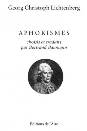 Aphorismes - Editions de l'Aire - 9782889560837 -