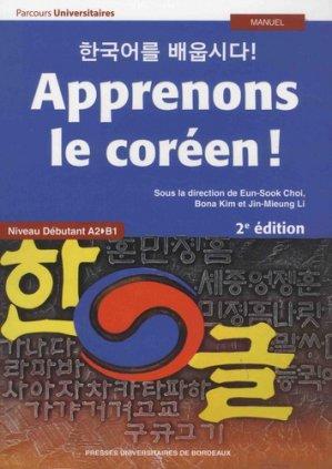 Apprenons le coréen ! - presses universitaires de bordeaux - 9791030003444