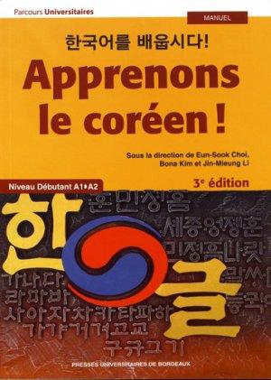 Apprenons le coréen ! - presses universitaires de bordeaux - 9791030004618 -