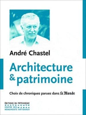 Architecture et patrimoine - du patrimoine - 9782757702352 -