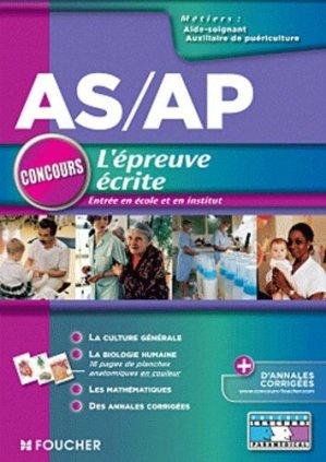 AS / AP L'épreuve écrite - foucher - 9782216118069 -
