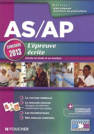 AS/AP L'épreuve écrite - foucher - 9782216122479 -