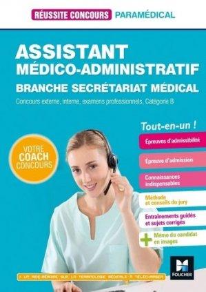 Assistant médico-administratif  Branche Secrétariat médical - foucher - 9782216154791 -