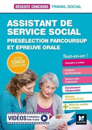 Assistant de service social - ASS -Préselection Parcoursup + Ep orale Préparation - foucher - 9782216156887 -