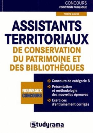 Assistants territoriaux de conservation du patrimoine et des bibliothèques - Studyrama - 9782759017584 -