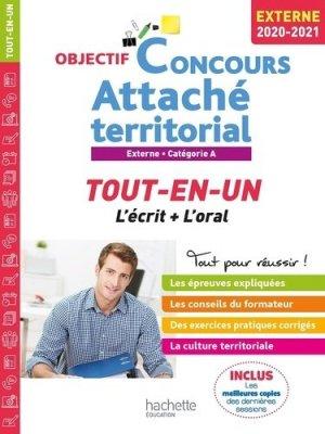 Attaché territorial Externe Catégorie A. Tout-en-un, Edition 2020-2021 - Hachette - 9782017111498 -