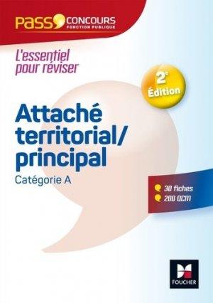 Attaché territorial/principal. Catégorie A, 2e édition - Foucher - 9782216148073 -