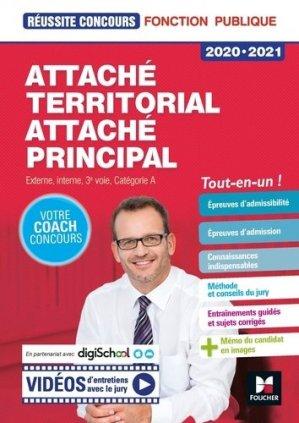 Attaché territorial, Attaché principal. Concours externe, interne, 3e voie et examens professionnels, catégorie A, Edition 2020-2021 - Foucher - 9782216156931 -