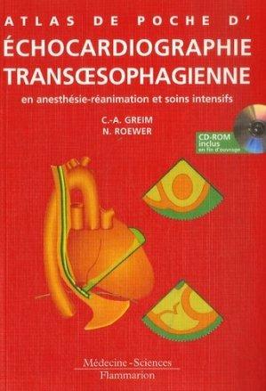 Atlas de poche d'Échocardiographie transoesophagienne en anesthésie-réanimation et soins intensifs - lavoisier msp - 9782257112200 -