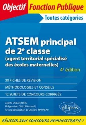 ATSEM principal de 2e classe (agent territorial spécialisé des écoles maternelles) - ellipses - 9782340036277 -