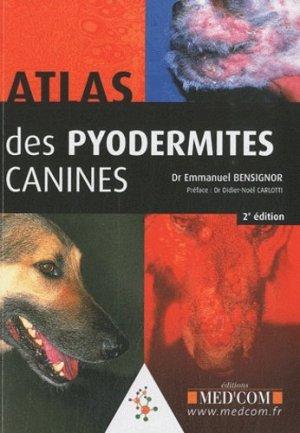 Atlas des pyodermites canines - med'com - 9782354030728 -