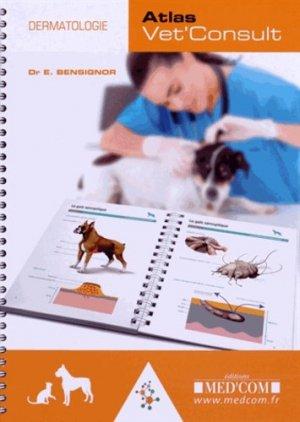 Atlas vet'consult de dermatologie - med'com - 9782354032098 -